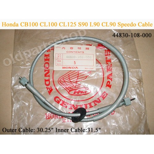 Honda CS90 S90 CL90 CB100 CL100 CB125 CL125 Speedo Cable 44830-108-000 free post