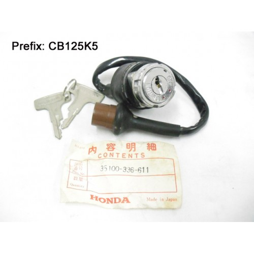 Honda CB125 Main Switch with Keys CB125K5 Ignition Switch 35100-336-611 free post