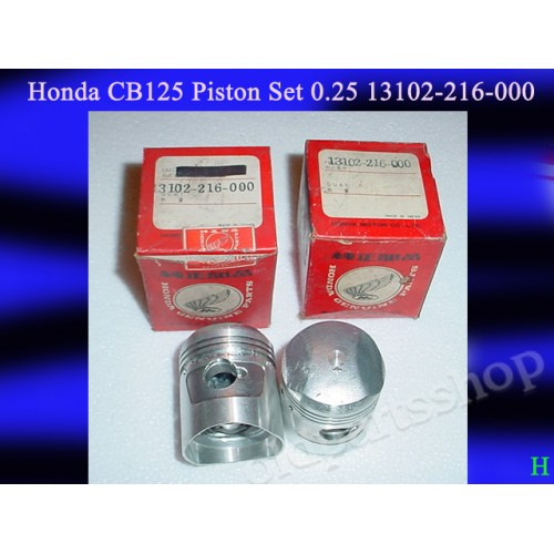 Honda CB93 Piston 0.25 x2 NOS CB125 PISTON 1st Over Size 13102-216-00 free post