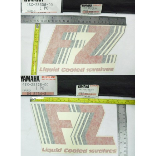 Yamaha FZ600 FZ400R Under Cowling Decal L & R 46X-28328-00 + 46X-28338-00 free post
