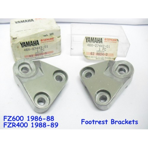 Yamaha FZR400 FZ600 FZR600 Front Footrest Bracket L + R Foot Peg Holder 46X-27442-01 & 46X-27443-01