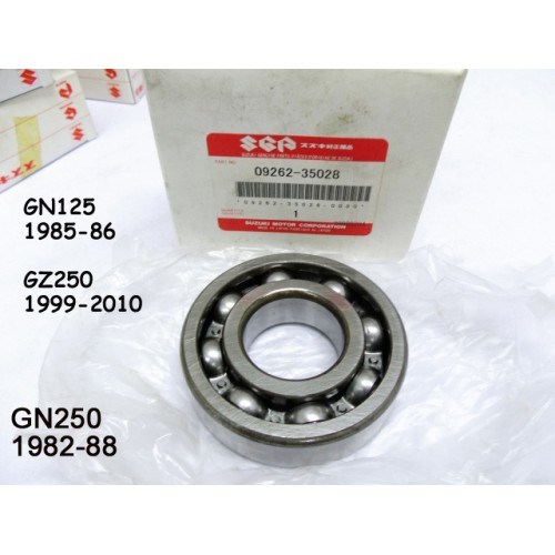 Suzuki GN125 GN250 GZ250 Crankshaft Bearing 09262-35028