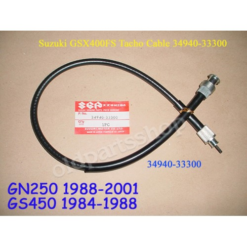 Suzuki GN250 GS450 GSX400 Tacho Cable GS450 1984-88 Rev Tachometer Wire 34940-33300 free post