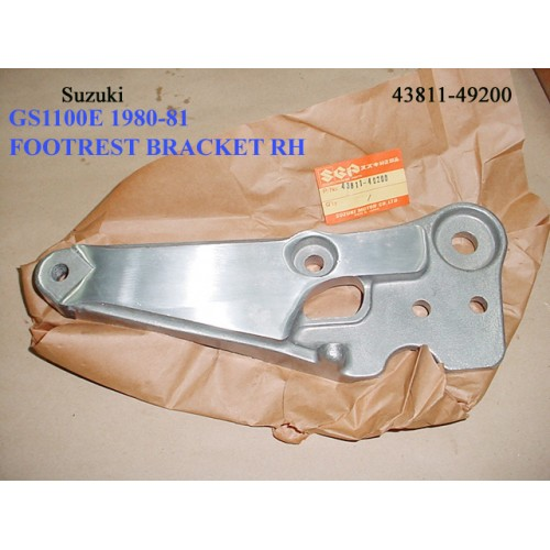 Suzuki GS1100 Footrest Bracket R 43811-49200 Muffler Holder