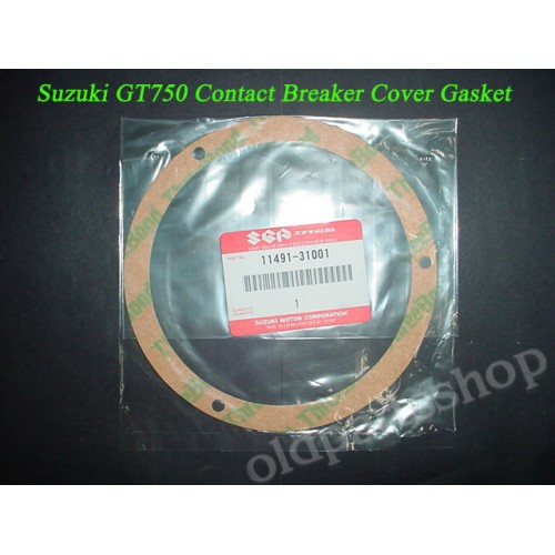 Suzuki GT750 Contact Point Cover Gasket 1972-1977 PN 11491-31001