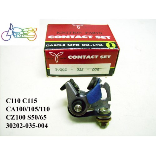 Honda CA110 CA105 CA100 CZ100 C115 C110 S50 S65 Contact Point Daiichi 30202-035-004 free post