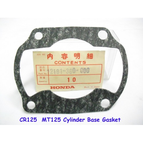 Honda CR125 MT125 Cylinder Base Gasket 12191-360-000 free post