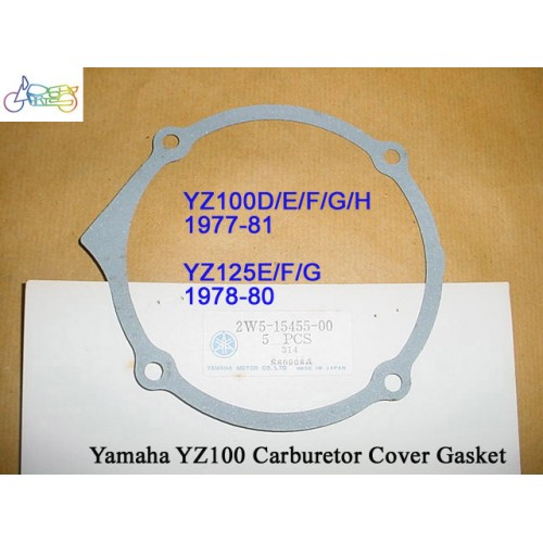 Yamaha YZ100 YZ125 Carb Cover Gasket 2W5-15455-00 free post