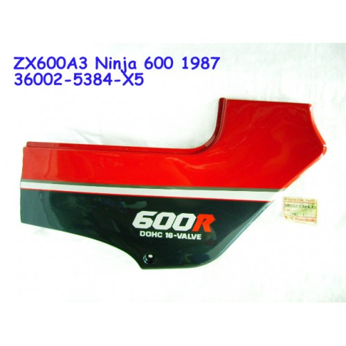 Kawasaki ZX600 Ninja 600 1987 Side Cover RH ZX600A3 PANEL 36002-5384-X5