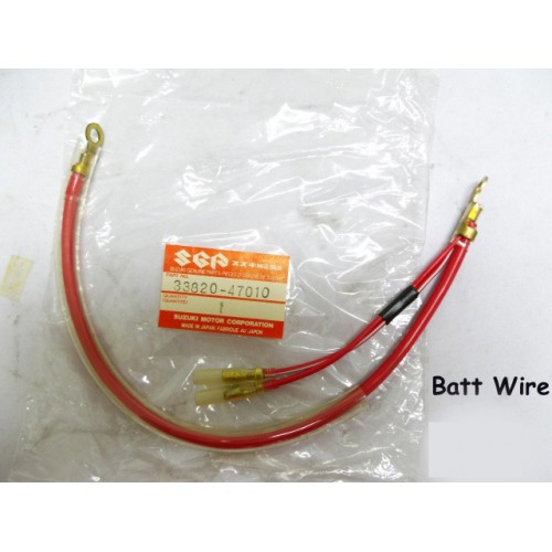 Suzuki GS500 Battery Lead Wire GS500EDP Police Motorycle 33820-47010