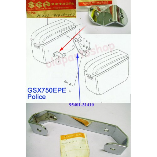 Suzuki GSX750 Side Box Bracket NOS Police Motorcycle GSX750EPE 95401-31410 95402-31410