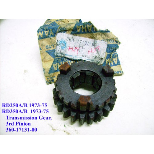Yamaha RD250 RD350 Transmission Gear - 3rd Pinion 360-17131-00 free post