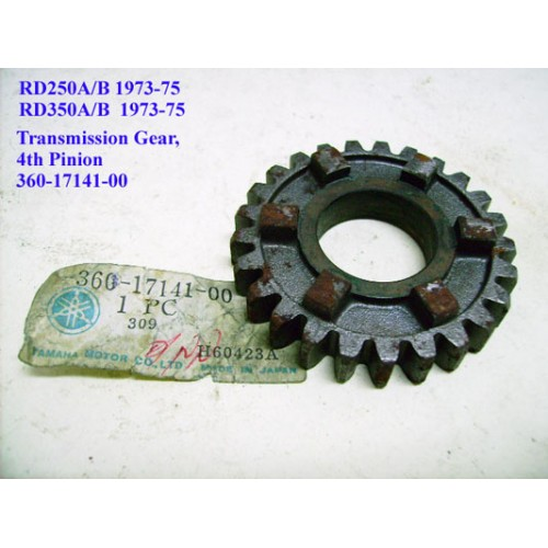 Yamaha RD250 RD350 Transmission Gear - 4th Pinion 360-17141-00 free post