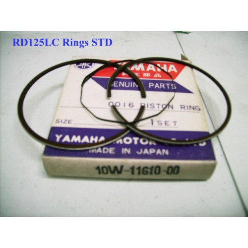 Yamaha RZ125 RD125LC DT125LC Piston Ring STD Standard Size Ring 10W-11610-00 free post