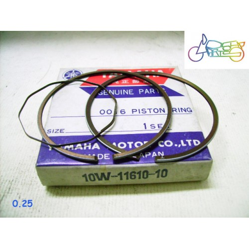 Yamaha RZ125 RD125LC DT125LC Piston Ring 0.25  1st Over Size Ring 10W-11610-10 free post