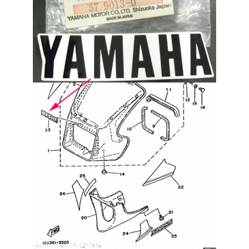 Yamaha RD125YPVS Top Cowling Emblem / Tail Piece Decal 1GU-2163G-00 Decal free post
