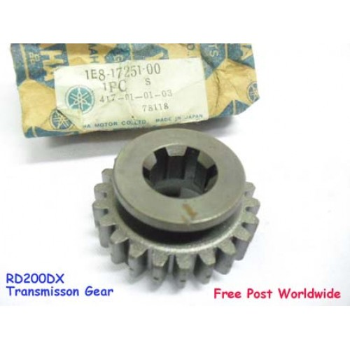 Yamaha RD200 RD200DX Transmission Gear 1E8-17251-00