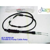 Yamaha RD250LC RD350LC Throttle & Pump Cable 4L0-26260-00 free post