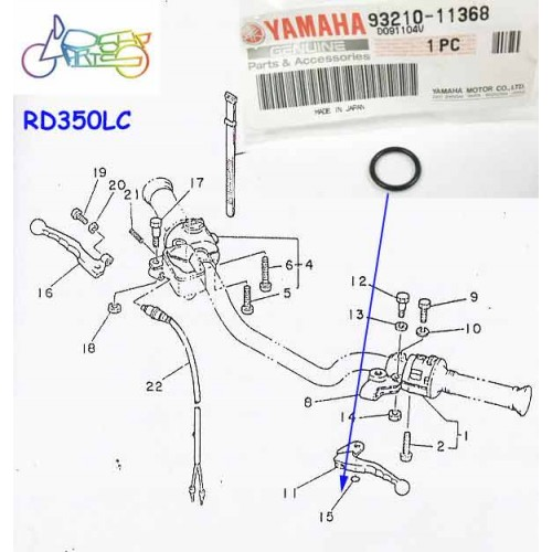 Yamaha RD250LC RD350LC Clutch Lever O Ring