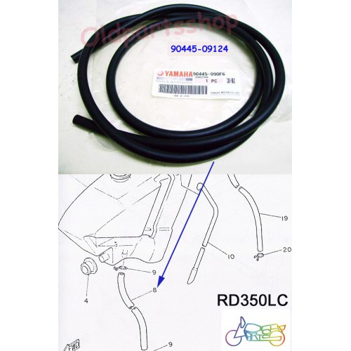 Yamaha RD350LC RD250LC DT250 DT400 Oil Tank Hose OEM OIL TANK PIPE 90445-090F6 free post