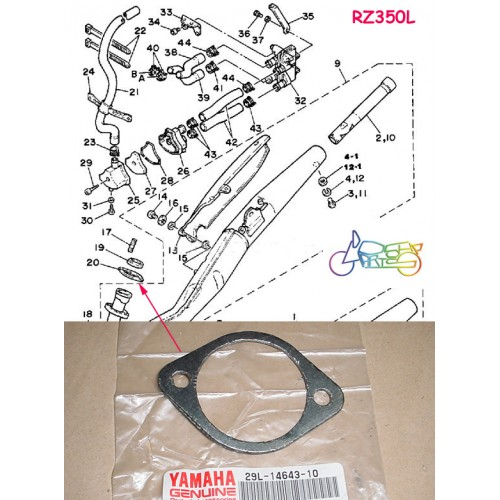 Yamaha RD350YPVS RZ350 RD250LC RD350LC Exhaust Gasket 4L0-14643-00 free post