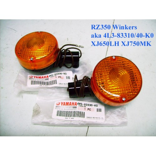 Yamaha RZ350 Rear Signal Light x2 Turn Flasher Winker 4W5-83330-K0 free post