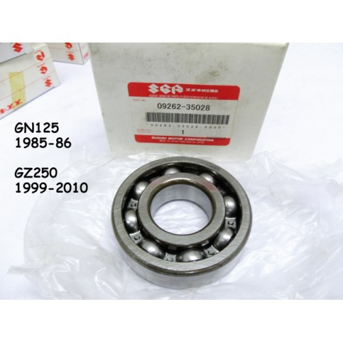 Suzuki GN250 GZ250 Crankshaft Bearing 09262-35028