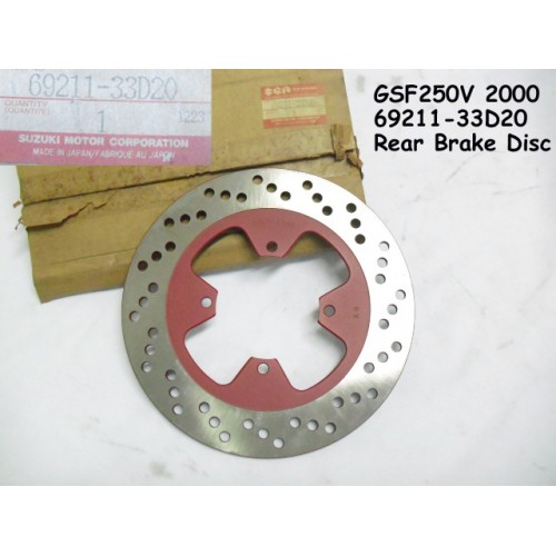 Suzuki GFS250 Rear Brake Disc GSF200V 2000 PN: 69211-33D20