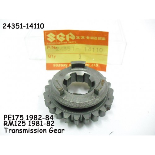 Suzuki RM125 PE175 Transmission Gear 5th Driven 24351-14110