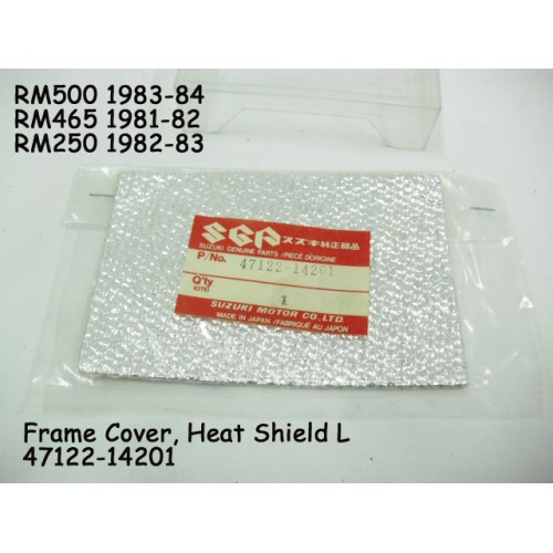Suzuki RM250 RM425 RM500 Side Cover Heat Shield L 47122-14201 Frame Cover