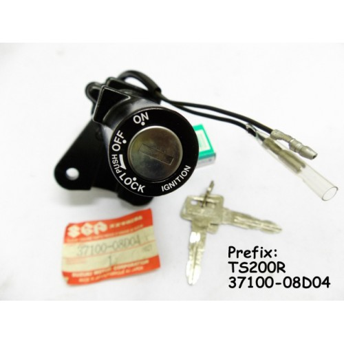 Suzuki TS200 Main Switch 37100-08D04 TS200R Ignition Key Switch