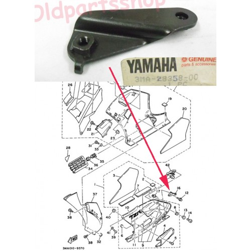 Yamaha TZR250 Belly Pan Stay 3MA-28358-00 free post