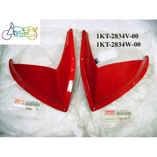 Yamaha TZR250 Top Cowling Protector Red Pair 1KT-2834V-00 1KT-2834W-00 free post