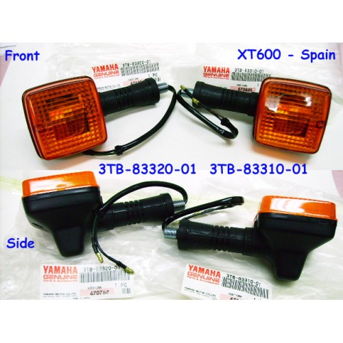 Yamaha SR250 XT500 XT600 Front Signal Light L + R PAIR 3TB-83310-01 & 3TB-83320-01 free post