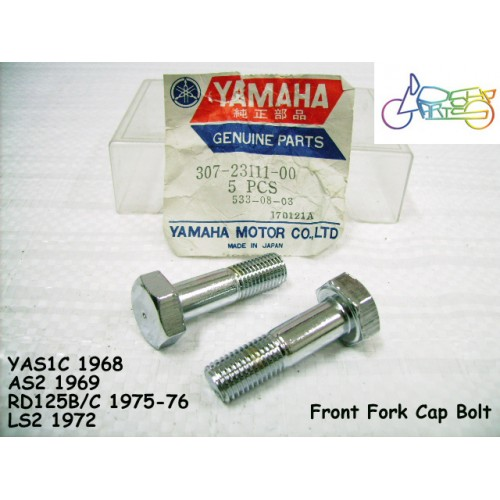 Yamaha LS2 YAS1 YAS2 YAS3 RD125 LB80 Front Fork Stay Bolt Cap x2 307-23111-00 free post