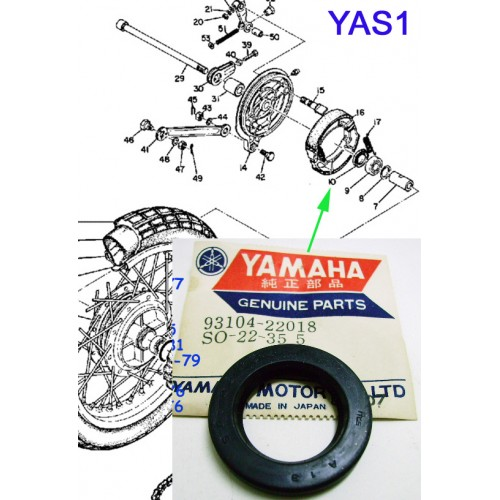 Yamaha YAS1 YAS2 YAS3 RD125 XT200 IT175 DT125 YZ100 Rear Wheel Oil Seal 93104-22018 free post
