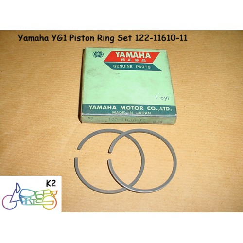 Yamaha YG1 Piston Ring Set 0.25 1st Over size Rings 122-11610-11 free post