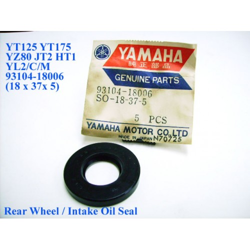 Yamaha YL2 JT2 HT1 GT1 GT80 TY80 YZ80 Rear Wheel Oil Seal 93104-18006 free post