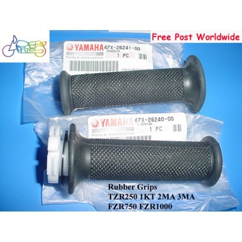 Yamaha FZR750 FZR1000 TZR250 RD500 Grip L+R = Throttle Tube Rubber Grips COVER 47X-26240-00 & 47X-26241-00 free post