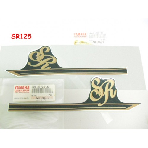 Yamaha SR125 Side Cover Decal L + R Side Panels Sticker Genuine 3MW-2173E-30 3MW-2173F-30
