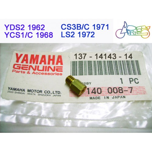 Yamaha YCS1 CS3 CS5 LS2 Carburetor Main Jet #70 PN: 137-14143-14 free post