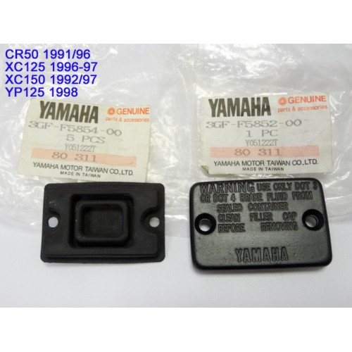 Yamaha CR50 XC125 XC150 YP125 Master Cylinder Cap and Diaphragm 3GF-F5852-00 & 3GF-F5854-00 free post
